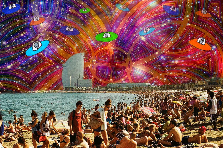 UFO Invasion in Barcelona